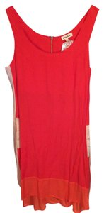 Love Riche short dress Coral/Cream/Orange on Tradesy