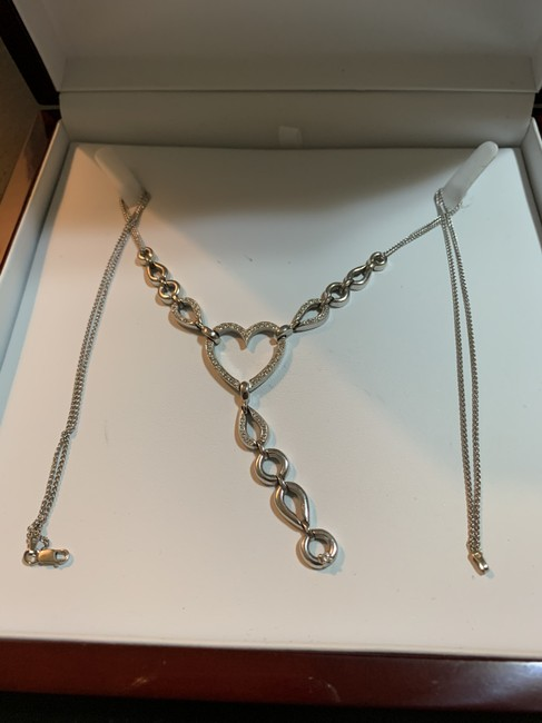 Item - 14 Kt White Gold Wheat Double Chain Diamond Necklace