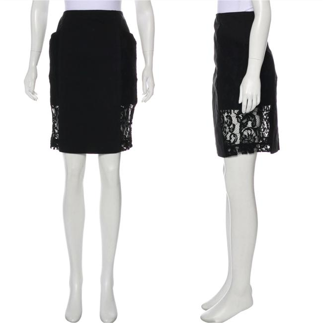 Item - Lace-accented Pencil Skirt Size 8 (M, 29, 30)
