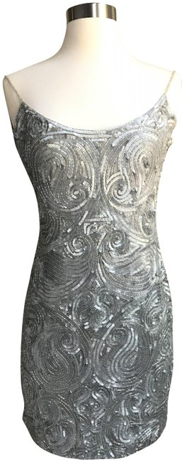 Item - Silver Riazee Nights Short Cocktail Dress Size 4 (S)