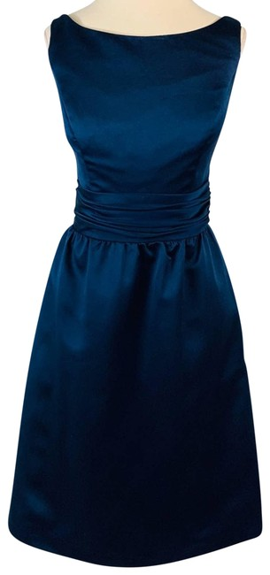 Item - Blue Navy with Pockets Formal Dress Size 4 (S)