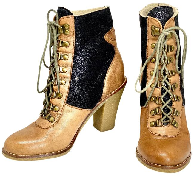 Item - Brown/Black Women's Leather Boots/Booties Size US 8 Regular (M, B)