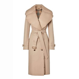 Item - Ecru Detachable Padded Down-collar Gabardine Coat