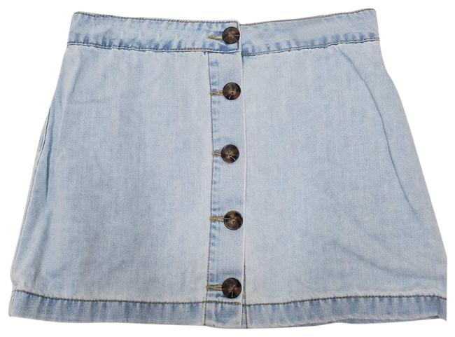 Item - Blue Button Front Skirt Size 6 (S, 28)