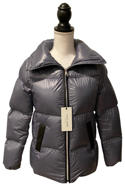Cole Haan Gray Women's Shimmer Down Jacket Coat Size 4 (S) Cole Haan Gray Women's Shimmer Down Jacket Coat Size 4 (S) Image 1