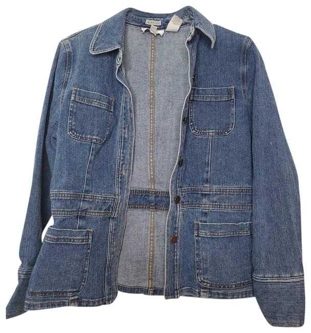 Item - Blue Fitted Jacket Size 8 (M)