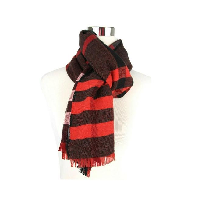 Item - Military Red Reversible Colour Check Wool Scarf/Wrap