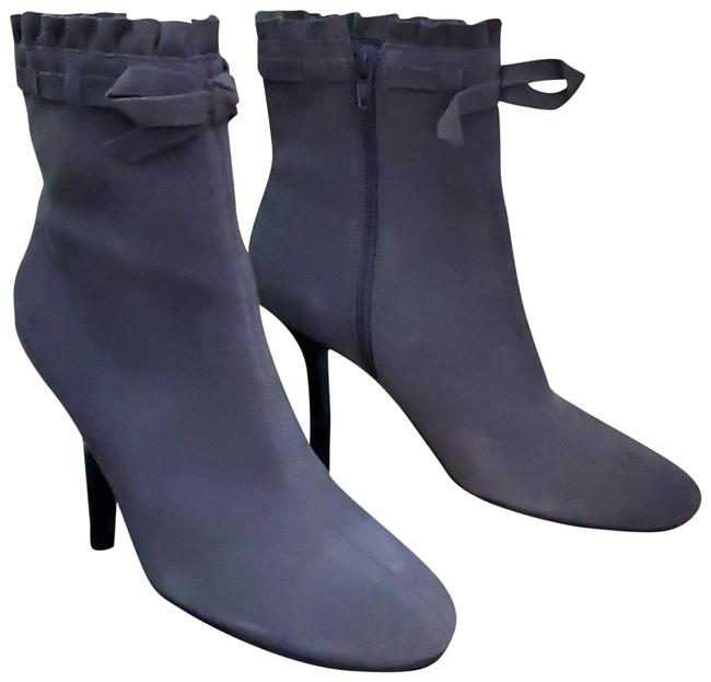 Item - Grey Suede Bow Ruffle Boots/Booties Size US 7.5 Regular (M, B)