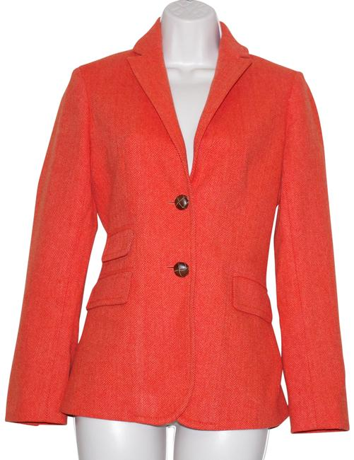 Item - Orange Wool Hascing Women's Blazer Size 2 (XS)