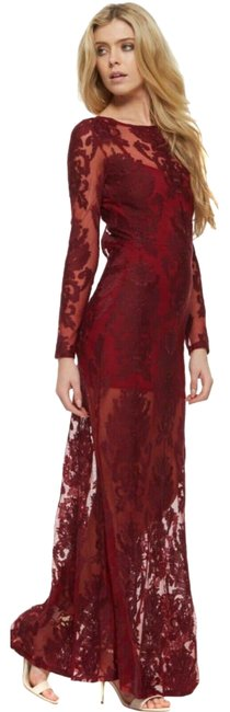 Item - Red Ethereal Long Night Out Dress Size 0 (XS)