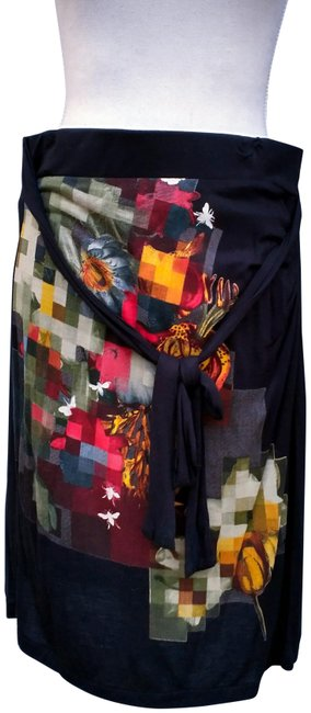 Item - Black/Multi-color By Christian Lacroix Modern Printed Casual Skirt Size 8 (M, 29, 30)