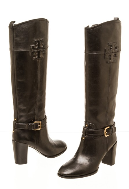Item - Black Rc 502426 Leather Blaire Mid-heel Riding Boots/Booties Size US 7.5 Regular (M, B)