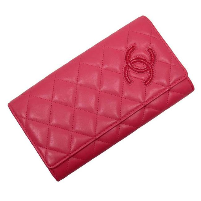 Item - Pink Purse Matrasse Coco Mark Leather Wallet