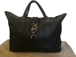 Valentino Calfskin Large Unconstructed Metal Hardware Tote in black