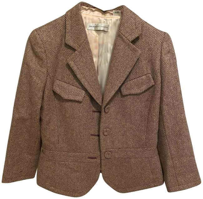 Item - Brown and Peach Classic Pant Suit Size 6 (S)