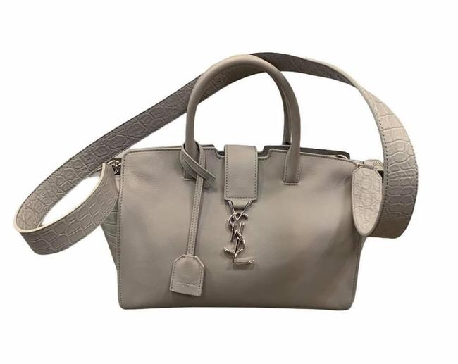 Item - Crossbody Downtown Cabas 2018 Tote Grey Leather Satchel
