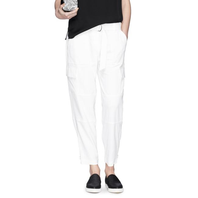 Theory Off White 'hannon B' Strap Cuff Patchwork Pants Size 0 (XS, 25) Theory Off White 'hannon B' Strap Cuff Patchwork Pants Size 0 (XS, 25) Image 1
