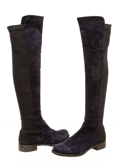 Item - Navy Blue Rc 502341 5050 Suede Over The Knee Boots/Booties Size US 8 Regular (M, B)