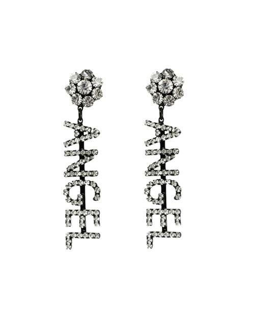 Item - Clear Angel Crystal Embellished Clio-on Earrings