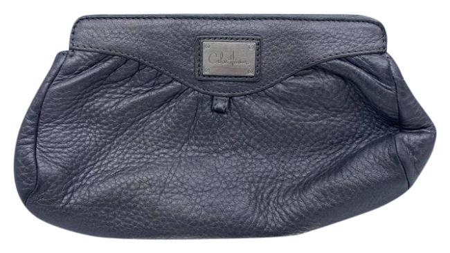 Item - Gray Leather Clutch
