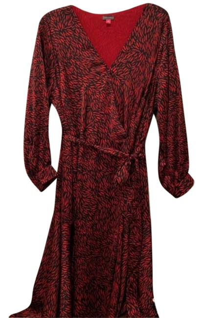 Item - Black Red .. Mid-length Casual Maxi Dress Size 26 (Plus 3x)