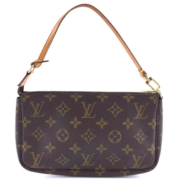 Item - Pochette #40586 Accessory Cosmetic Make Up Sling Evening Be Brown Monogram Canvas Clutch