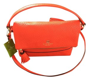 Kate Spade Red Bright Leather Summer Gold Hardware Classic Cross Body Bag