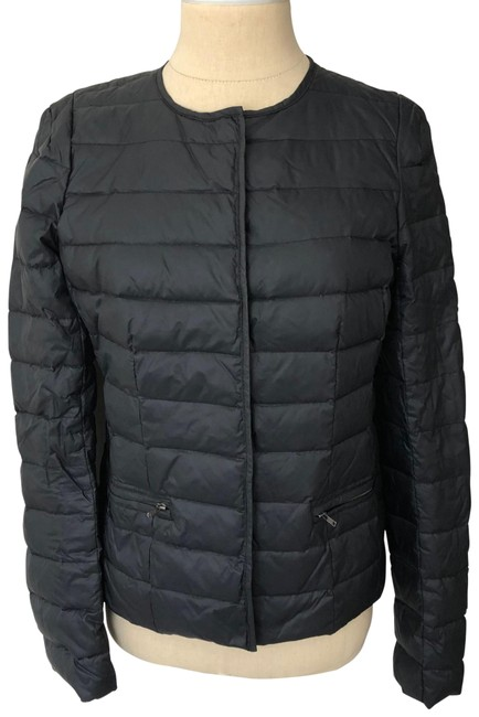 Item - Black Down Quilted Snap Button Puffer Jacket Coat Size 2 (XS)