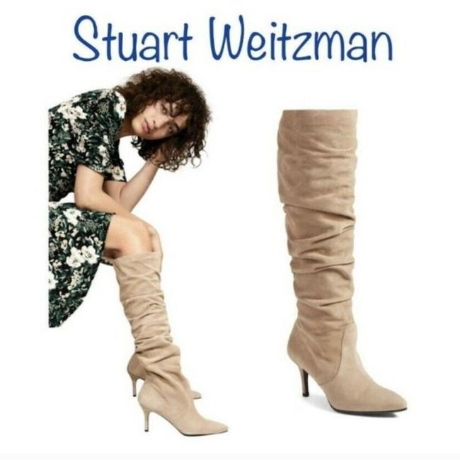 Item - Beige Lafayette Pointed Toe Slouch Knee High Boots/Booties Size US 6.5 Regular (M, B)