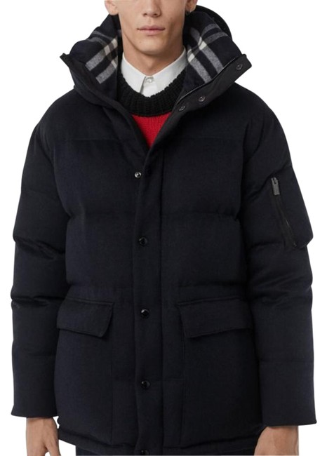 Item - Navy Mansfield Cashmere Down - Filled Hooded Puffer Coat Size 20 (Plus 1x)