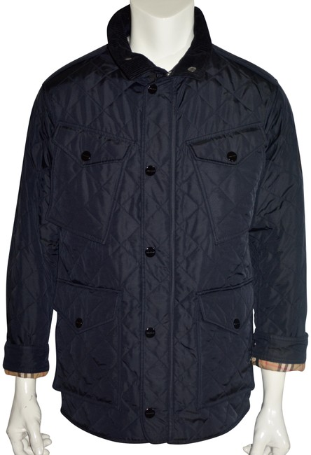 Item - Navy Ascott Field Quilted Jacket Coat Size 12 (L)