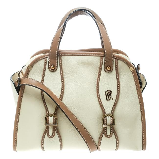 Item - Top Handle Bag Beige/Brown Susan Beige Leather Satchel