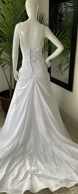 Alfred Angelo White Polyester Gown Rhinestone Embellished By - Traditional Wedding Dress Size 18 (XL, Plus 0x) Alfred Angelo White Polyester Gown Rhinestone Embellished By - Traditional Wedding Dress Size 18 (XL, Plus 0x) Image 3