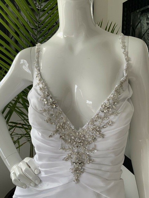 Alfred Angelo White Polyester Gown Rhinestone Embellished By - Traditional Wedding Dress Size 18 (XL, Plus 0x) Alfred Angelo White Polyester Gown Rhinestone Embellished By - Traditional Wedding Dress Size 18 (XL, Plus 0x) Image 4