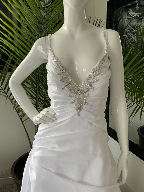 Alfred Angelo White Polyester Gown Rhinestone Embellished By - Traditional Wedding Dress Size 18 (XL, Plus 0x) Alfred Angelo White Polyester Gown Rhinestone Embellished By - Traditional Wedding Dress Size 18 (XL, Plus 0x) Image 5