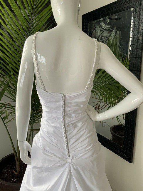 Alfred Angelo White Polyester Gown Rhinestone Embellished By - Traditional Wedding Dress Size 18 (XL, Plus 0x) Alfred Angelo White Polyester Gown Rhinestone Embellished By - Traditional Wedding Dress Size 18 (XL, Plus 0x) Image 6