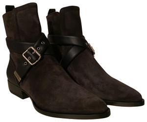 Item - Black Charcoal Rylee Suede Buckle Boots/Booties