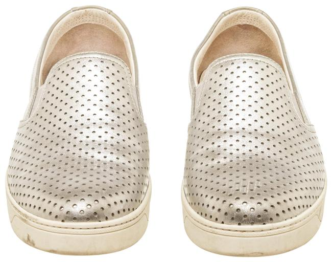 Item - Metallic Silver Cdt 502383 Leather Slip On Sneakers Size EU 39 (Approx. US 9) Regular (M, B)