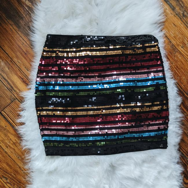 Item - Multicolor Colorful Striped Sequin Skirt Size 8 (M, 29, 30)
