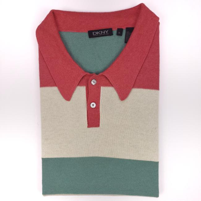 Item - Red Multicolor Striped XL Cashmere Blend Polo Green Mens Co Shirt