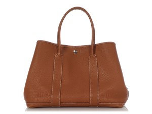 Item - Garden Party Gold Negonda 36 Brown Leather Tote