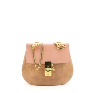 Item - Drew Small Pink Suede Leather Cross Body Bag