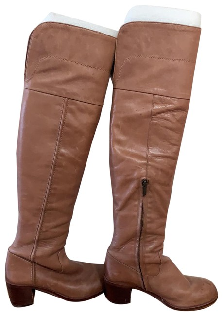 Item - Taupe Over The Knee Boots/Booties Size US 8 Regular (M, B)