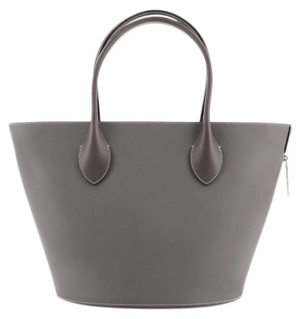Louis Vuitton Holdall Veau Satin Pm Gray Leather Tote Louis Vuitton Holdall Veau Satin Pm Gray Leather Tote Image 1