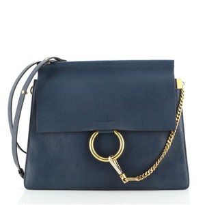 Item - Faye Medium Blue Leather Shoulder Bag