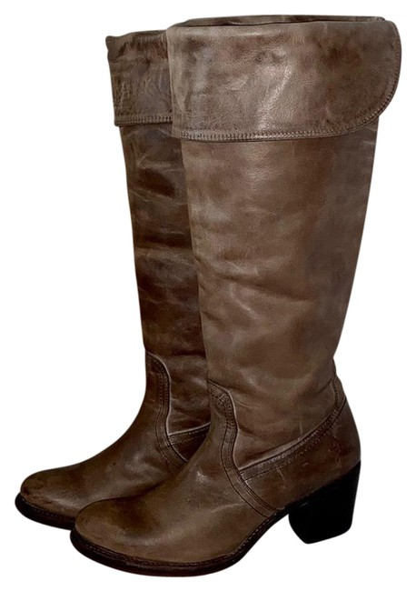 Item - Slate Burnished Antique Leather Jane Tall Cuff Boots/Booties Size US 7.5 Regular (M, B)