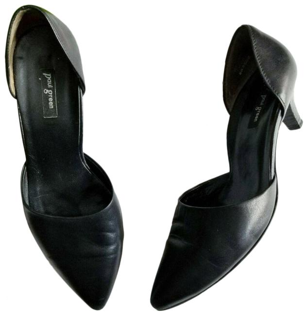 Item - Black Julia Leather D'orsay Kitten Pumps Size US 6 Regular (M, B)