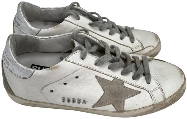 Item - White and Gray Leather Sneakers Size EU 36 (Approx. US 6) Regular (M, B)