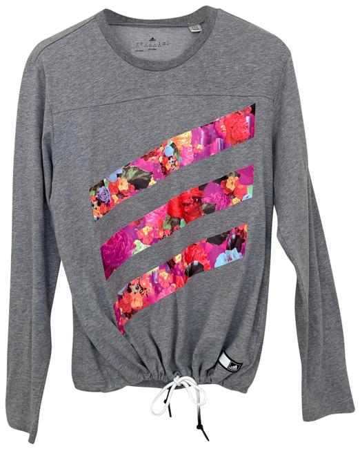 Item - Gray Climalite Drawstring Floral Long Sleeve Activewear Top Size 8 (M)