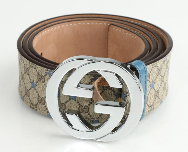 Item - Brown/Blue Gg Supreme Belt with G Buckle Men's Jewelry/Accessory